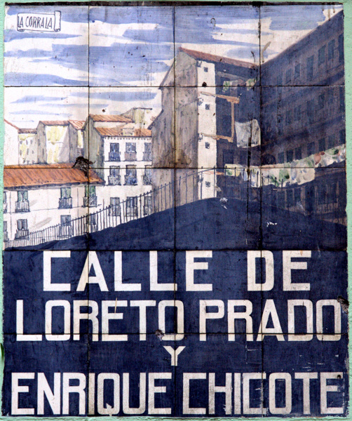 Placas de madrid for Calle loreto prado y enrique chicote 13